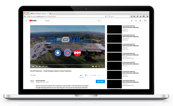 Subscribe to Scovill Fasteners on YouTube